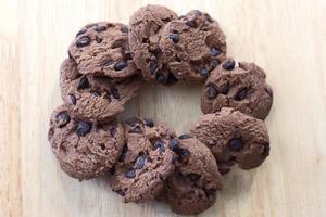 Gruppe von Schokoladenkeksen