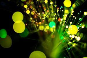 grünes und gelbes Bokeh foto
