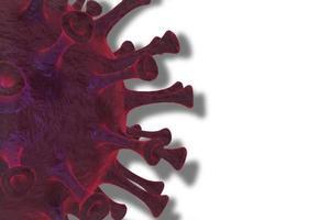 Coronavirus oder Covid-19-Zelle unter dem Mikroskop
