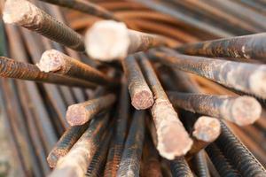 Nahaufnahme von Stahlstangen foto