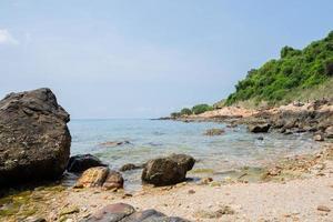 Panoramablick auf das Meer im Sommer