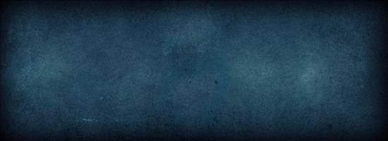 abstrakter Schmutz dekorativer blauer dunkler Wandhintergrund. dunkelblaue Betonhintergründe mit rauer Textur, dunkler Tapete, Platz für Text, Verwendung für dekoratives Design Webseite Bannerrahmen Tapete foto