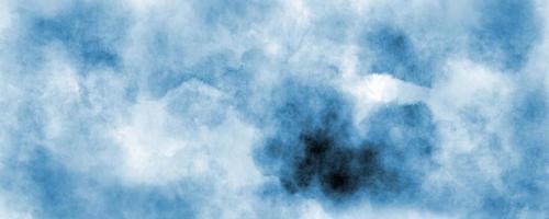abstrakter blauer Himmel Aquarellhintergrund, Illustration, Textur für Design