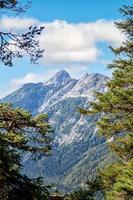 Panorama Karwendel Berge an einem schönen sonnigen Tag