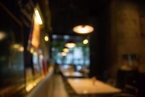 verschwommene Restaurantszene foto