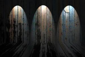 Lichter auf rustikalem Holz foto