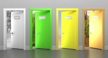 Türen zu verschiedenen Jahreszeiten foto