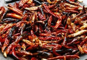 geröstete getrocknete Chili
