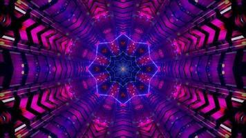 Sternentunnel abstrakte 3d Illustration Hintergrund Tapete Design Kunstwerk
