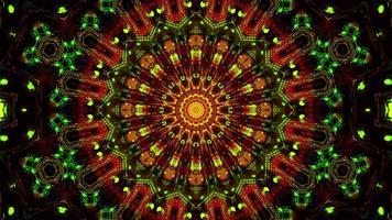 blinkende abstrakte Blume gelbe und rote 3d Illustration Hintergrund Tapete