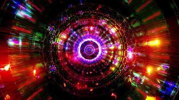 abstrakte Reflexion Neonlichter leuchtende Farben 3d Illustration Hintergrund Tapete Design Kunstwerk