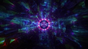 coole dunkle Tech Tunnel 3D Illustration Hintergrund Wallpaper Design Kunstwerk foto