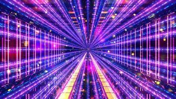 glühende Science-Fiction-Raumtunnel 3d Illustration Hintergrund Tapete Design Kunstwerk foto