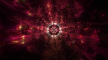 Umgebungskühle dunkle Tech-Lochtunnel 3d Illustration Hintergrund Tapete Design-Kunstwerk
