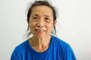 Porträt einer alten Frau foto