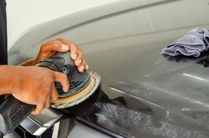 Auto polieren und polieren foto