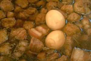 Eier mit Gewürzen Thai genannt Kai Palo oder Pa-Lo