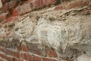 rote rustikale Backsteinmauer