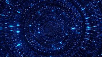 Blue Space Partikel Science-Fiction-3D-Illustration Hintergrund Wallpaper Design Kunstwerk foto