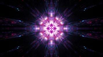 abstrakte glühende heilige Glanz 3d Illustration Hintergrund Tapete Design Kunstwerk