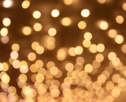 goldene Bokeh-Lichter