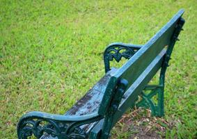 Gartenbank aus Metall foto