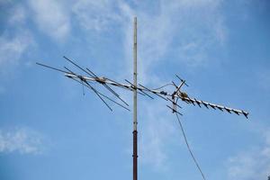 Antenne und Himmel foto