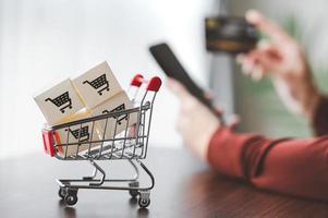Online-Shopping-Konzept foto