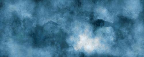 abstrakter blauer Aquarellhintergrund, Illustration, Textur für Design