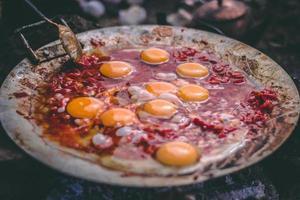 Eierspeise auf Wok