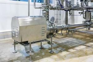 Edelstahl-Kreiselpumpe von Industrieanlagen Edelstahlrohre Lebensmittelautomatisierung foto