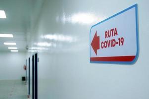 Krankenhausroute für Covid - 19