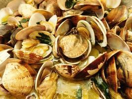 frisch gefangene Muscheln foto
