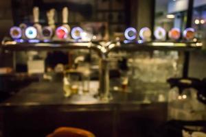 verschwommenes Restaurant Bar foto