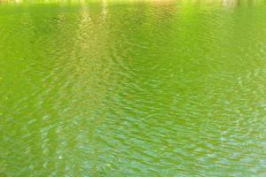 Wellen auf der Oberfläche von grünem Wasser foto