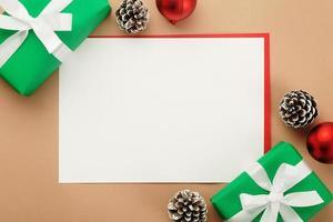 Weihnachtsgrußkartenvorlage