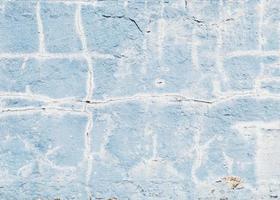 rissige blaue Wand foto