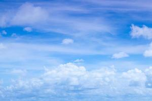 weiße Wolken am Himmel