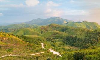 Waldlandschaft in Thailand foto
