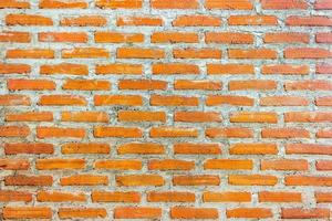 rote Backsteinmauer für Textur oder Hintergrund foto