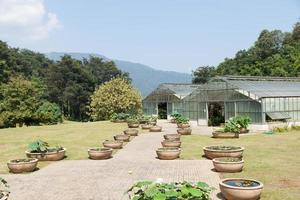 Pflanzenzüchtungsgebäude auf einem Bauernhof