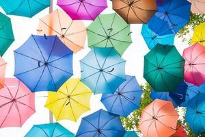 bunter Regenschirmhintergrund foto