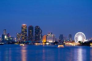 Bangkok Stadt in der Nacht