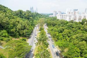 Straßenpark in Singapur
