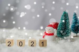 2021 Blöcke mit Weihnachtsszene