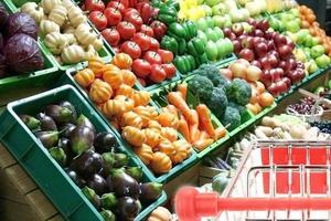 Obst im Supermarkt foto