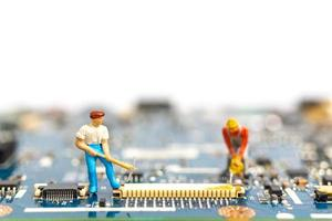 Miniaturfigur Menschen Data Mining