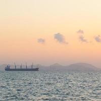großes Frachtschiff auf dem Sealarge-Frachtschiff