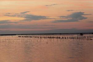 schöner pastellfarbener Sonnenuntergang