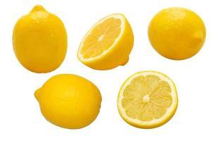 Gruppe von gelben Zitronen foto